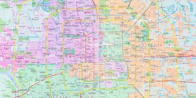 Beijing Pequim Mapa Mapas Beijing Pequim China